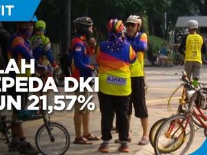 PPKM Diperpanjang, Jumlah Pesepeda di DKI Turun 21,57%