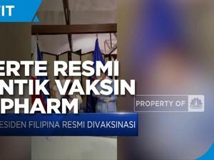 Duterte Resmi Disuntik Dosis Pertama Vaksin Corona Sinopharm