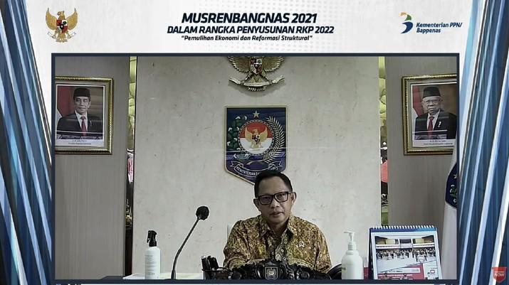 Musyawarah perencanaan pembangunan nasional 2021. (Tangkapan layar Bappenas RI)
