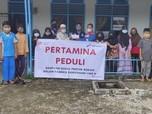 Tebar Kebaikan, Pertagas Beri Santunan di Proyek Konstruksi