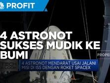 4 Astronot Sukses Mudik ke Bumi dari ISS