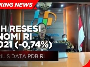 BPS : Pertumbuhan Ekonomi RI Q1-2021 Minus 0,74%
