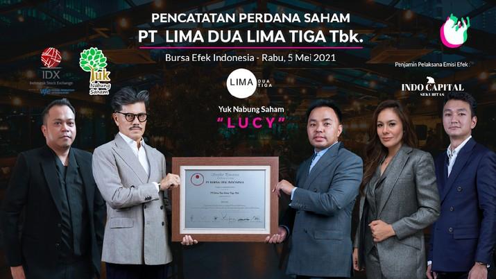 IPO Lima Dua Lima Tiga/LUCY, 5 Mei 2021