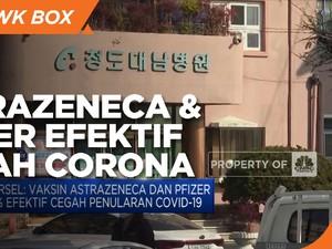 Korsel: AstraZeneca & Pfizer 86% Efektif Cegah Covid