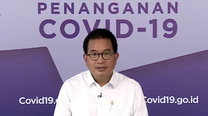 Wiku Adisasmito juru bicara gugus tugas percepatan penanganan Corona memberi Keterangan Pers Juru Bicara terkait Update Data Covid-19 Nasiona. (Youtube/Sekretariat Presiden)