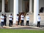 Penampakan Presiden Jokowi Salat Idul Fitri di Istana Bogor