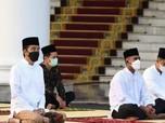 Jokowi Salat Id di Istana Bogor, Begini Penampakannya