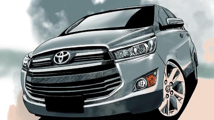 INFOGRAFIS, Jawara Mobil terlaris, Penjualan Toyota Innova naik 200%