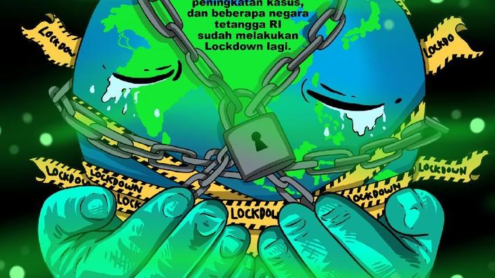 Infografis/Covid-19 Menggila Lagi! Singapura, Malaysia Hingga Taiwan Lockdown/Aristya Rahadian