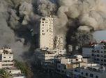 Detik-detik Menara Gaza Diserang Bom, Begini Penampakannya