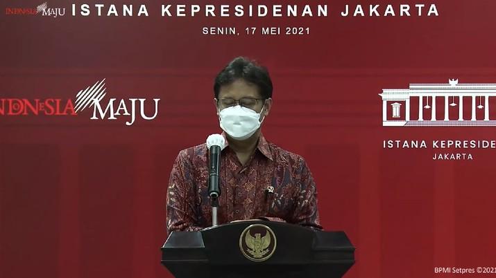 Menkes Budi Gunadi Sadikin. (Tangkapan Layar Sekretariat Presiden)