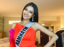 Miss Myanmar 'Teriak' Pray for Myanmar di Ajang Miss Universe