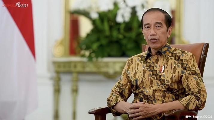 Pernyataan Presiden Jokowi terkait Status Pegawai KPK, Istana Merdeka, 17 Mei 2021. (Tangkapan Layar Youtube Sekretariat Presiden)