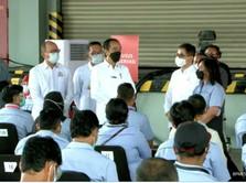Jokowi ke Unilever Cek Vaksinasi Mandiri, KAEF Jadi Operator!