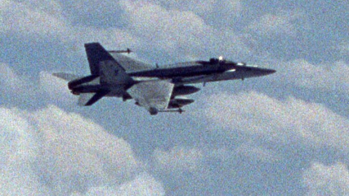 An F/A-18 Hornet assigned to the