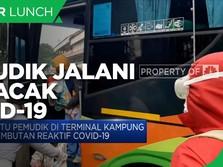 Pemudik Jalani Tes Acak Covid-19 di Terminal Kampung Rambutan