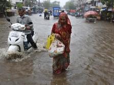 Tsunami Covid-19 Belum Selesai, India Malah Diterjang Topan