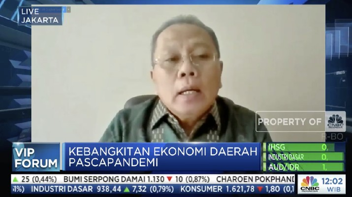 Direktur Eksekutif Asbanda, Wimran Ismaun dalam acara VIP Forum CNBC Indonesia