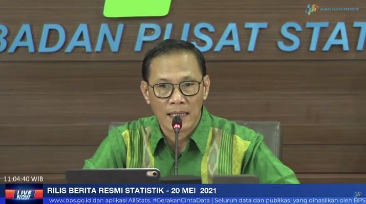 Kepala BPS Suhariyanto Saat Rilis BPS 20 Mei 2021 (Tangkapan Layar Youtube BPS Statistics)