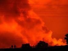 Langit Memerah, Dahsyatnya Letusan Gunung Nyiragongo