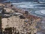 Usai Gencatan Senjata, Warga Israel Serbu Pantai Liburan