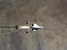 Ini Penampakan Pesawat Virgin Galactic yang Tembus Atmosfer