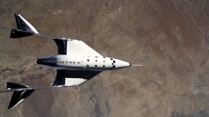 Pesawat ruang angkasa VSS Unity, Virgin Galactic (Dok. Virgin Galactic)