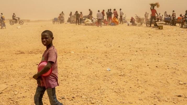 Ilustrasi anak-anak Niger. AP/