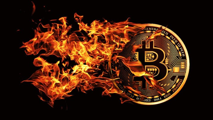 Ilustrasi/ Bitcoin/Aristya Rahadian