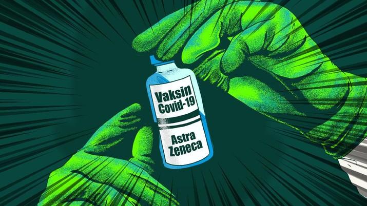 Infografis/ Vaksin AstraZeneca Sangat Efektif untuk Varian Baru COVID-19/Aristya Rahadian