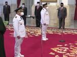 Sah! Jokowi Lantik Gubernur & Wagub Kalimantan Tengah