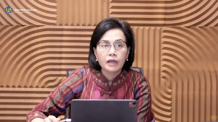 Sri Mulyani dalam acara konferensi pers  APBN KITA edisi Mei 2021. (Tangkapan layar Youtube Kemenkeu RI)