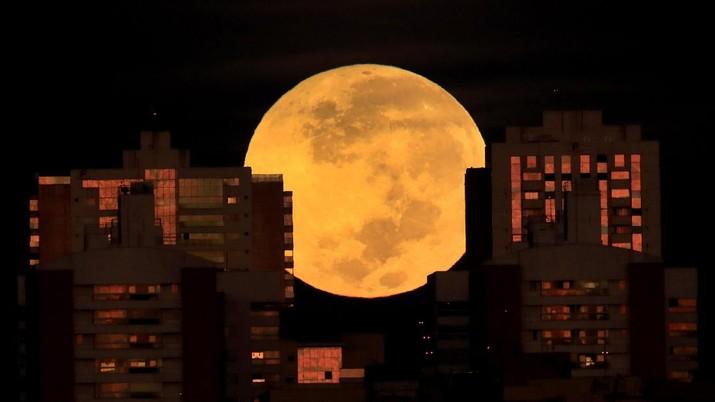 Gerhana Bulan di Brazil. (AP/Eraldo Peres)