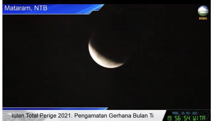 Gerhana bulan. (Dok: BMKG)