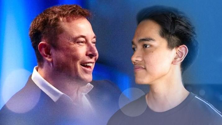Kolase  Foto Elon Musk Kaesang