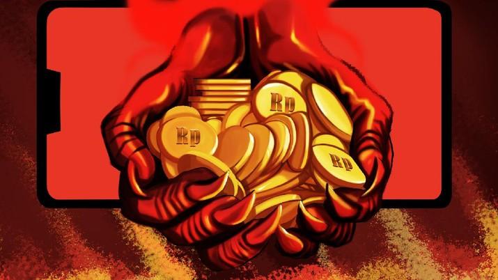 INFOGRAFIS, Jangan Coba-Coba! 3 Risiko Besar Menanti Jika Tak Bayar Pinjaman Online