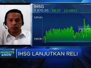 Net Buy Asing Meningkat, IHSG Lanjutkan Reli