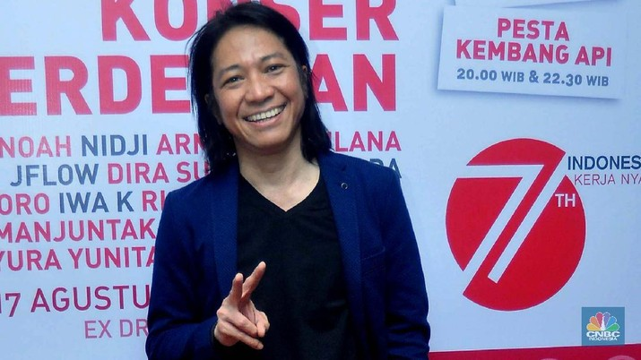 Abdee 'Slank' (File Photo/CNBC Indonesia/Muhammad Sabki)