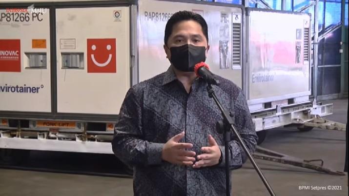 Menteri BUMN Erick Thohir (Tangkapan Layar Youtube)