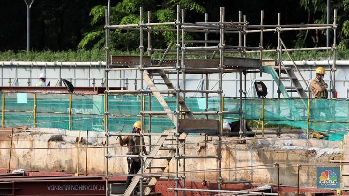 Pembangunan Proyek MRT Fase II (CNBC Indonesia/Andrean Kristianto)