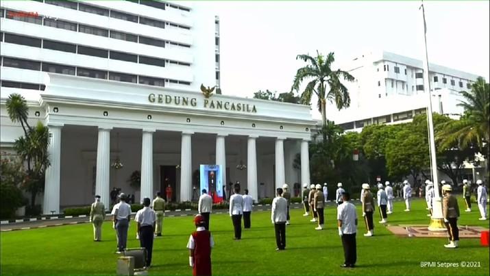 Upacara Peringatan Hari Lahir Pancasila Tahun 2021, Istana Kepresidenan Bogor, 1 Juni 2021