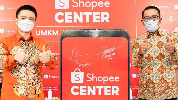 RK Gandeng Shopee Percepat UMKM Jabar Go Digital