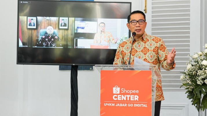 Gubernur Jawa Barat Ridwan Kamil mengapresiasi apa yang dilakukan oleh Shopee Indonesia, terkait dengan komitmen terhadap Usaha Mikro Kecil dan Menengah (UMKM).