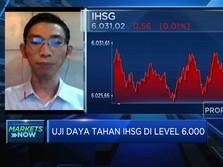 Lanjutkan Penguatan, IHSG Diproyeksi Bertahan di Level 6.000
