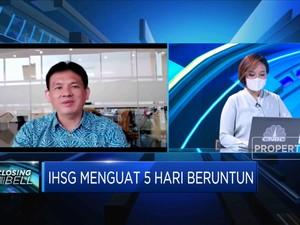Net Buy Asing Melesat, IHSG Menguat 5 Hari Beruntun