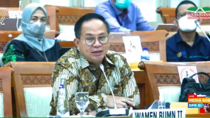 Wakil Menteri BUMN Kartiko Wirjoatmodjo dalam Raker 3 Juni 2021/Youtube