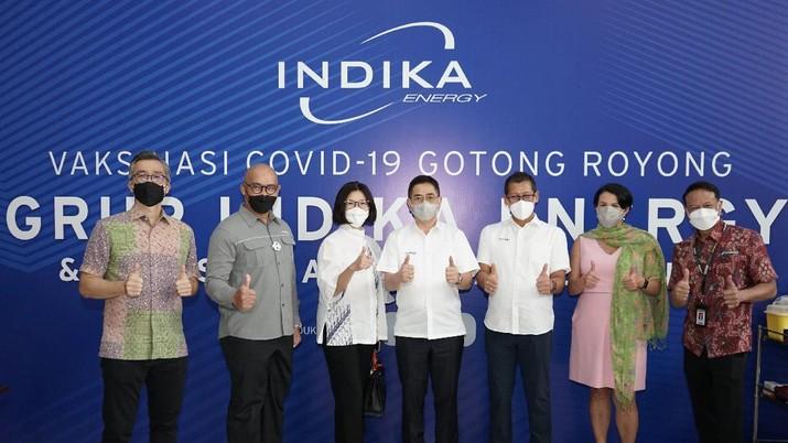 Indika Energy memulai pelaksanaan program Vaksinasi Gotong Royong untuk mendukung Pemerintah mencapai target vaksinasi nasional dan wujudkan Indonesia yang lebih sehat.