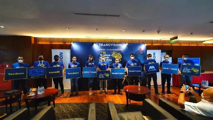 Transvision Gelar Event Balap Sepeda di Tondano dan Manado. (Dok. Transvision)