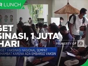 Jokowi Targetkan Vaksinasi 1 Juta Dosis per hari di Juli