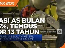 Inflasi AS Bulan Mei 5%, Tembus Rekor 13 Tahun